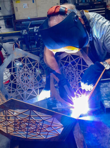 Dodecahedron Table - Welding