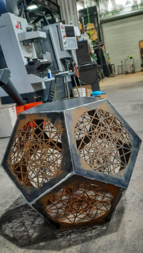 Dodecahedron Table - Waiting for powdercoat