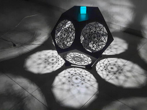Dodecahedron Table in situ