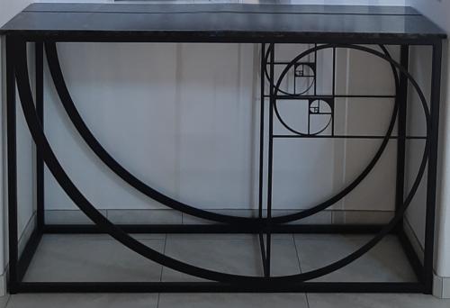 Fibonacci Spiral Table in situ